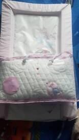 Baby crib set and change mat