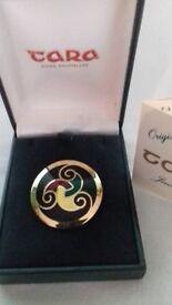 Enamelled gold plated brooch - Tara Jewellery Company, Ireland