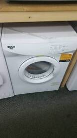 New graded Bush 7kg vented dryer with 12 months guarantee