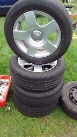 """Audi A4 Alloys 16"""" Alloys with good tyres"""
