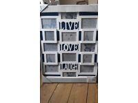 Large 'live, love, laugh' photo frame- white