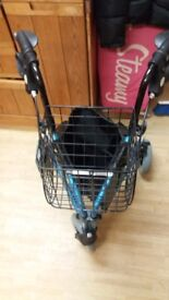 3 wheel mobility walker with shopping basket