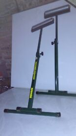 Record roller stands