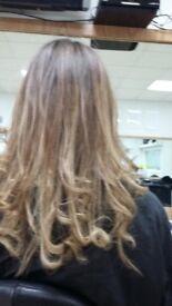 Hair extensions on European hair