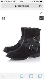 Brand New Head Over Hills by Dune Reenan Black Boots - 4