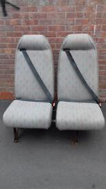 Double van/minibus/campervan seats with integral seat-belts
