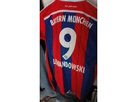 NEW-BAYERN-MUNICH-2014-FOOTBALL-SOCCER-FUSSBALL-SHIRT-JERSEY-XL-9-LEWANDOWSKI-BN
