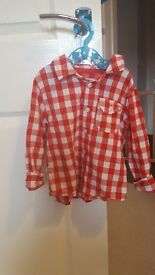 Boys checked shirt 18 to 24months