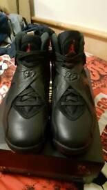 OVO air Jordan 8 black size 10