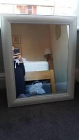 Mirror shabby chic white