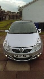 2010 Vauxhall Corsa 1.2 16v Energy 60 plate Limited Edition Silver/Black
