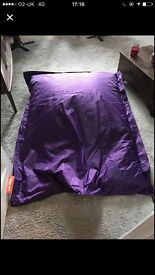 Large Purple Bean bag