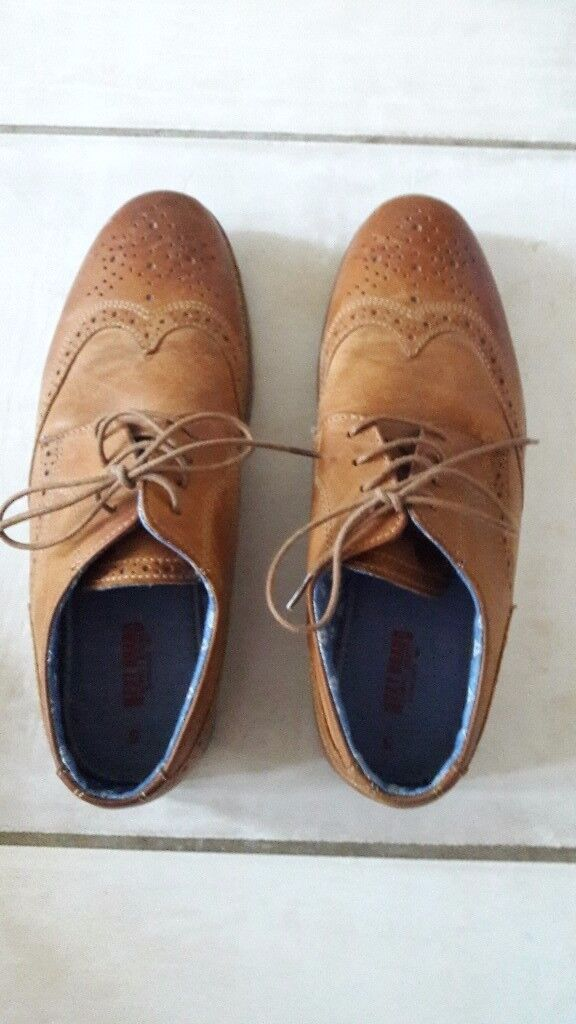 Next tan brogue boys shoes size 5