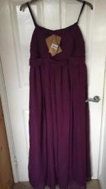 Brand new unworn beautiful long dress in Grape shade