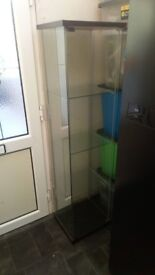 ikea glass display cabinets x 3