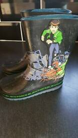 Boys size 10 Ben 10 wellies/wellys/Wellington boots