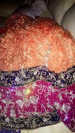 Lengha lace with diamonds