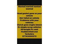 Huddersfield scrap vehicle buyer 24/7