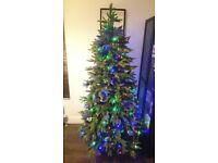 Balsam Hill Luxury Multi-coloured Pre-Lit Christmas Tree 7 Foot High 45 inches Wide