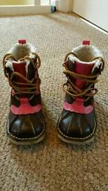 Girls Kickers Boots (brown & pink)
