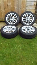 4x BMW Mini R60 wheels and tyres.
