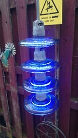 glass pylon isolators , garden decoration, garden ornament light