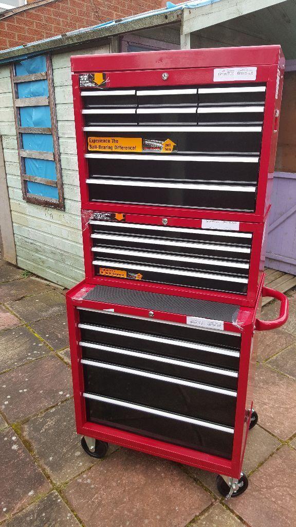 halfords professional tool box chest set roll cab. Black Bedroom Furniture Sets. Home Design Ideas