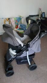 Hauck pushchair and car seat for sale
