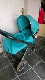 Oyster 2 Pushchair Blue/Turquoise