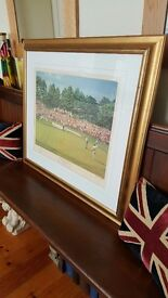 gold framed golf picture the masters golf augusta