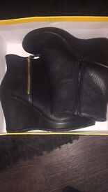 BRAND NEW WEDGE BOOTS