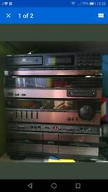 Aiwa hifi stereo system with speakers