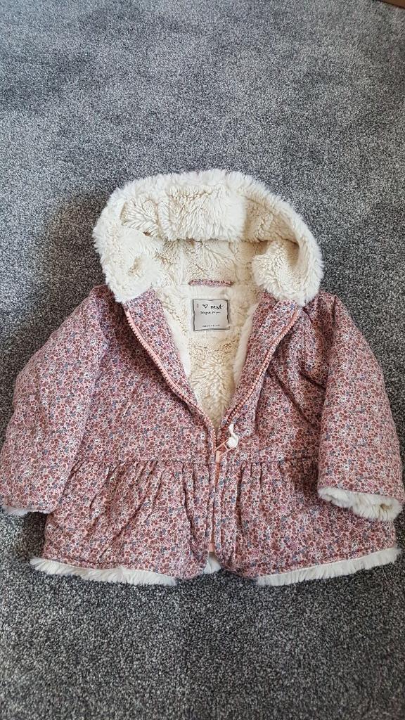 Pink Girl's Next Coat 12-18 months