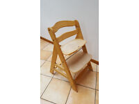 Toddler Wooden Adjustable High Chair