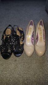 New look size 5 shoes x2 pairs