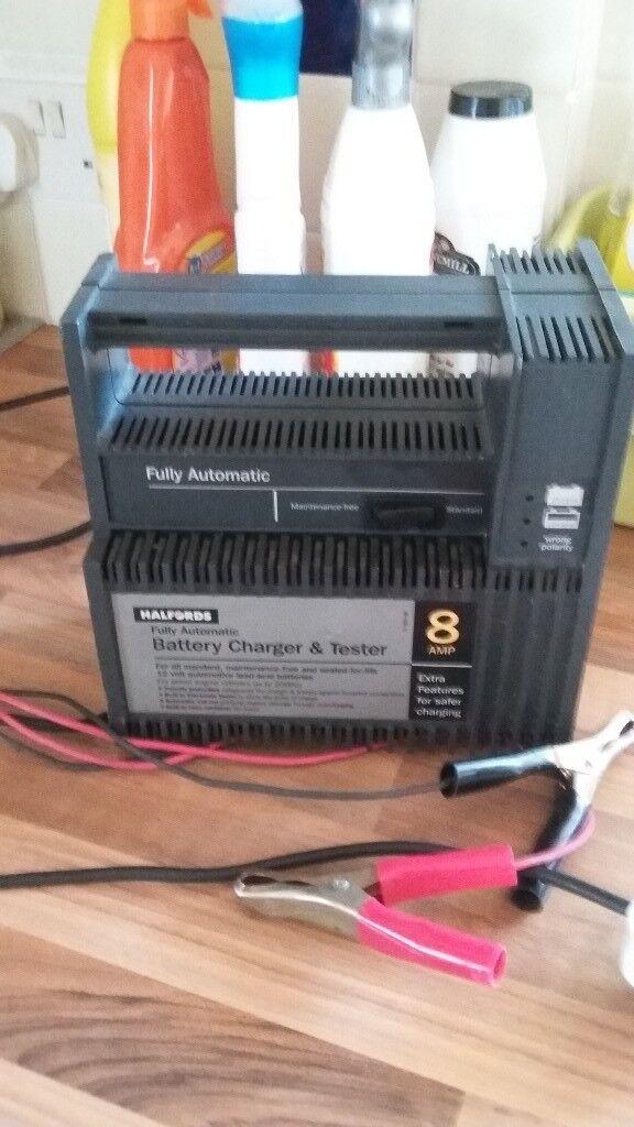 Halfords 8 Amp Battery Charger Tester