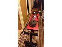 Exercise Bench Bar & Weights