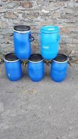 Plastic storage Barrels