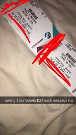 SELLING 2 PTV TICKETS £25 EACH FOR THURSDAY 1ST GLASGOW BARROWLANDS