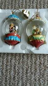 Cherished teddies Christmas baubles