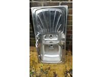 double kitchen sink with expensive stylish mixer tap very good condition