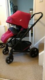 Joie Chrome Stroller Pushchair from birth to toddler.
