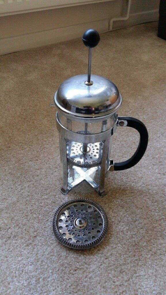 Bodum Coffee Maker chrome and glass £3.50 only; good condition