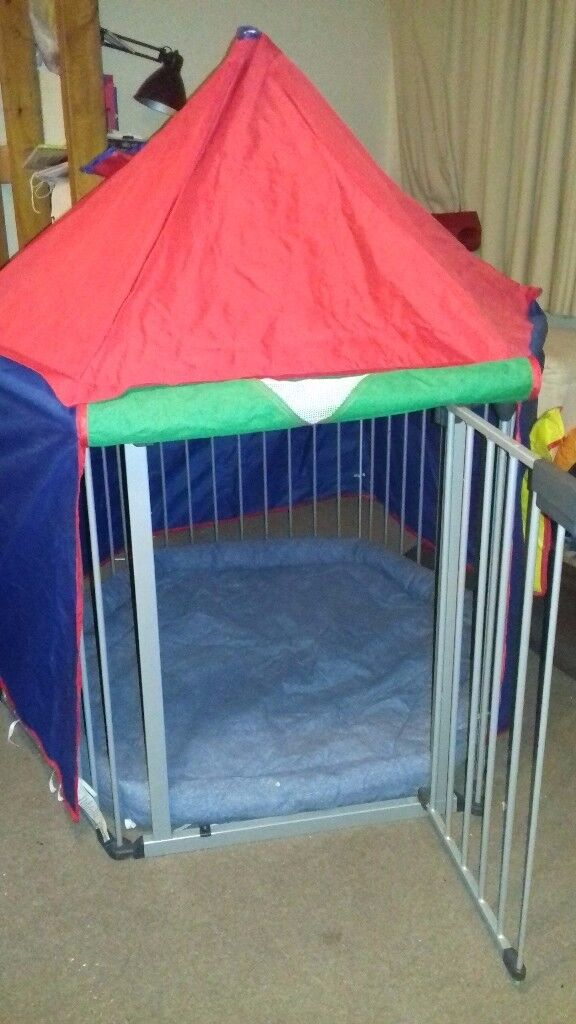 Babydan playpen with blue mat and tent & Babydan playpen with blue mat and tent | in Headington ...