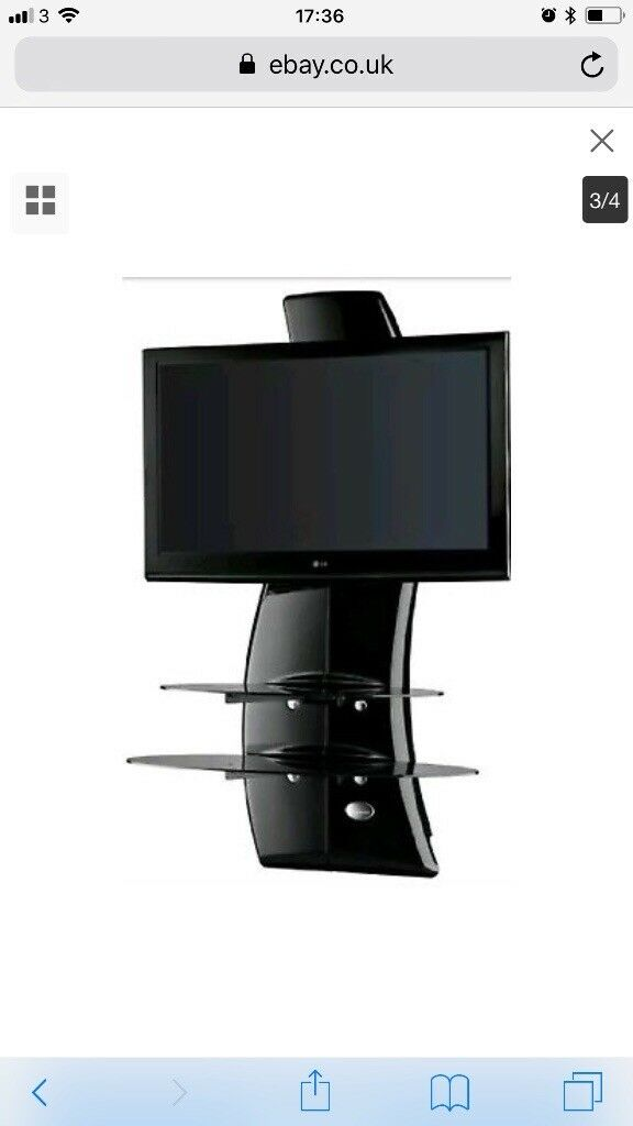 Meliconi Ghost Design 2000 Wall Bracket System For 32 63 Inch Tv Ledlcd  Stand