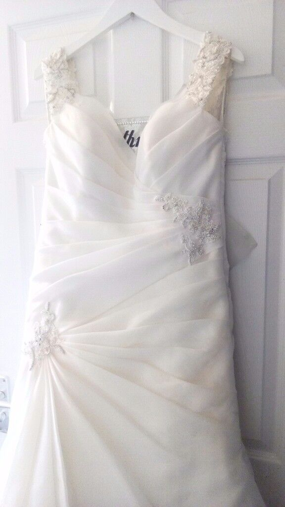Sophia Tolli Size 14 Corset Back Wedding Dress New