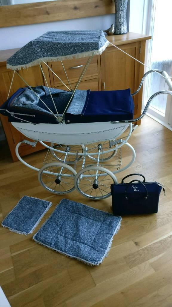 Silver cross Vintage dolls Pram sun Canopy shade tray and bag & Silver cross Vintage dolls Pram sun Canopy shade tray and bag | in ...