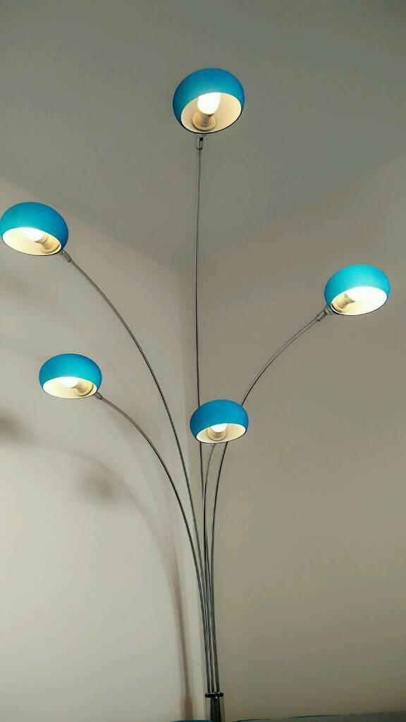 Furniture Village Lounge Floor Lamp   Multi Lamp, Teal Color.