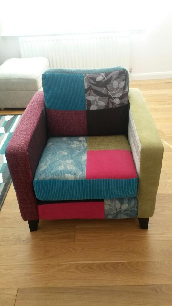 Peggy Patchwork Armchair From Homebase