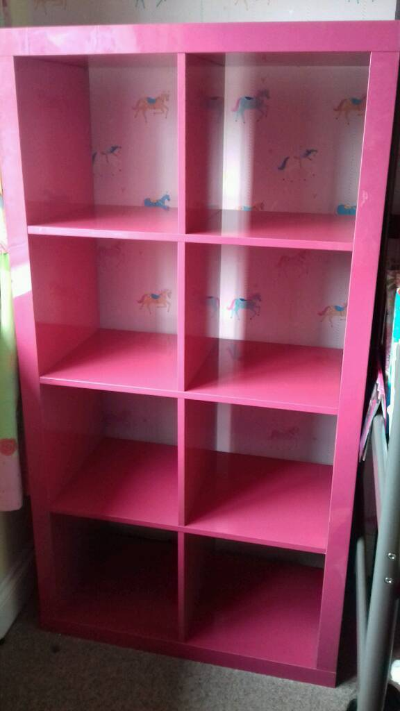 IKEA KALLAX high gloss lipstick pink storage unit & IKEA KALLAX high gloss lipstick pink storage unit | in Carrickfergus ...